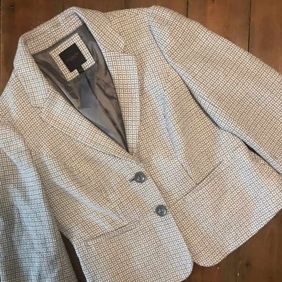 The Limited Jackets & Blazers - The Limited Gray Patterned Blazer / Coat